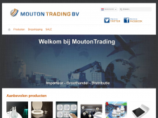 Screenshot van de website van Moutontrading