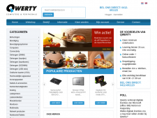 Screenshot van de website van QWERTY