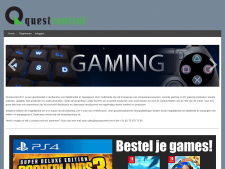 Screenshot van de website van QuestControl