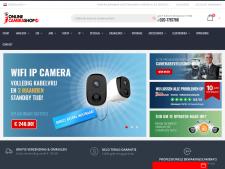 Screenshot van de website van Online camera shop