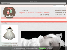 Screenshot van de website van Babyshop Bambineke