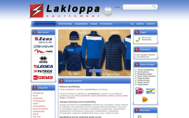 Screenshot van de website van Lakloppa Sportswear