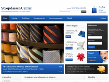 Screenshot van de website van Stropdassen Center