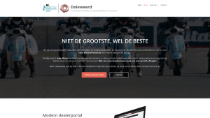 Screenshot van de website van Van Doleweerd