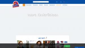 Screenshot van de website van Volare Kinderfietsen