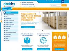 Screenshot van de website van Dropship Specialist (DROBBS)