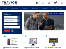 Screenshot van de website van Travion IT
