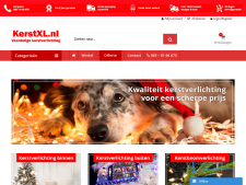 Screenshot van de website van KerstXL