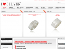 Screenshot van de website van I love Silver