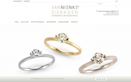 Screenshot van de website van Van Nienke Sierraden