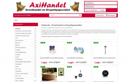Screenshot van de website van Axihandel