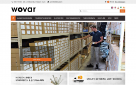 Screenshot van de website van Wovar