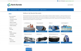 Screenshot van de website van Mundo Recreatie