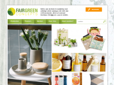 Screenshot van de website van Fair Green Concepts
