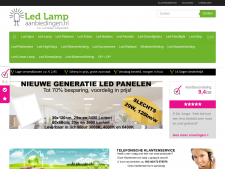 Screenshot van de website van Led Lamp Aanbiedingen