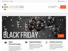 Screenshot van de website van Complies