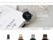 Screenshot van de website van Renard Watches