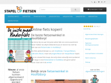Screenshot van de website van Stapel of fietsen