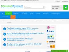 Screenshot van de website van Schoonmaak Discount