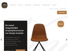 Screenshot van de website van Vince Design