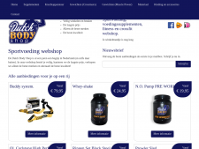 Screenshot van de website van Dutch Body Shop