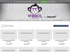 Screenshot van de website van Wibbol