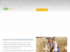 Screenshot van de website van NutriBoost Superfoods
