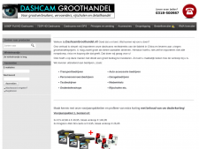 Screenshot van de website van Dashcam Groothandel