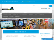 Screenshot van de website van Camerashop 24