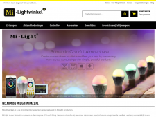 Screenshot van de website van Mi Light Winkel