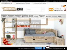 Screenshot van de website van Steigerhout Trend