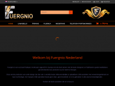 Screenshot van de website van Fuergnio