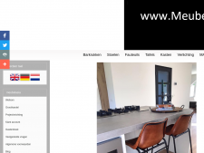 Screenshot van de website van Meubel Asia