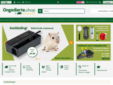 Screenshot van de website van Ongedierte Shop