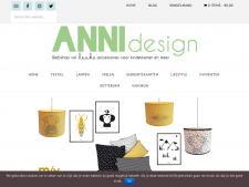Screenshot van de website van ANNIdesign