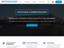 Screenshot van de website van Pet Discount