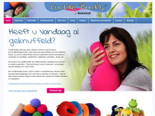 Screenshot van de website van Cuddlebuddy