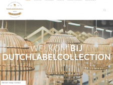 Screenshot van de website van Dutch Label Collection
