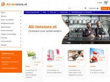 Screenshot van de website van Allin Store