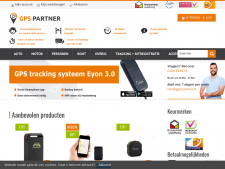 Screenshot van de website van GPS Partner