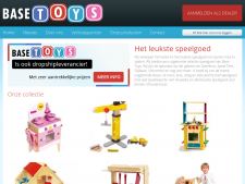Screenshot van de website van Base Toys