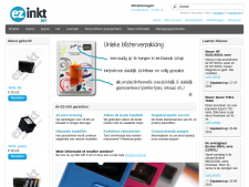 Screenshot van de website van EZ Inkt