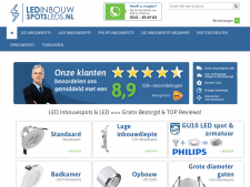 Screenshot van de website van LED Inbouw Spot