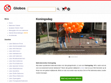 Screenshot van de website van Ballonartikelen.nl