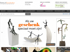 Screenshot van de website van