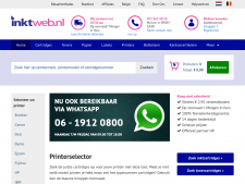 Screenshot van de website van Inktweb