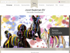 Screenshot van de website van Baakman