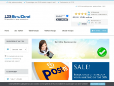 Screenshot van de website van 123 Best Deal