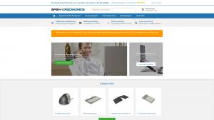 Screenshot van de website van