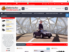 Screenshot van de website van Elektrische Kinderauto